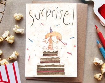 Surprise - DELETED SCENES greeting cards - birthday alien movies film cinema 80s pop culture humour funny chestburster Ripley sci fi horror