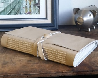 Large Leather Journal, Light Brown Hand-Bound 6 x 9 Journal by The Orange Windmill on Etsy 1757