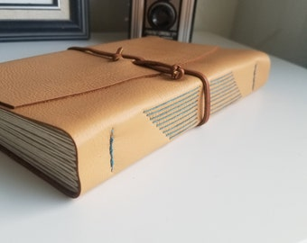 Large Leather Journal, Ochre Hand-Bound 6 x 9 Journal by The Orange Windmill on Etsy 1885