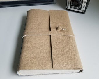 Large Handmade Leather Journal, Light Brown Hand-Bound 6 x 9 Journal by The Orange Windmill on Etsy 1901