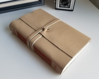 Large Leather Journal, Light Brown Hand-Bound 6 x 9 Journal by The Orange Windmill on Etsy 1899