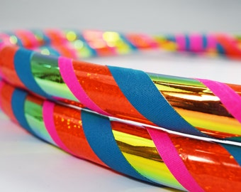 NEW Eternal Sunset Color Changing Collapsible Hula Hoop // Any Size // Great Gift // Exercise // Dance // Gymnastics // Bir