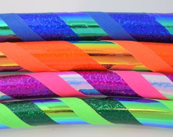 NEW Unicorn Deluxe Color Changing Collapsible Hula Hoop // Any Size // Sparkle // Exercise // Dance // Gymnastics // Holographic