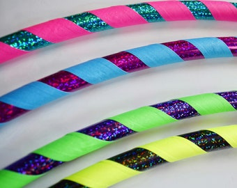 SALE Custom DANCE 1 lb Collapsible Hula Hoop / Pick ANY 2 Colors / Dance Hoop / 1/2 125psi / Any Size / DeSiGn YoUr OwN HoOp / Lightweight
