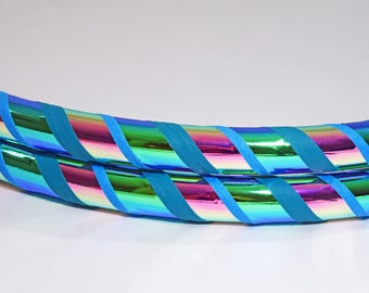 NEW Space Candy Color Changing Collapsible Hula Hoop / Holographic / Gift / Exercise / Dance / Gymnastics / Birthday / Any Tubing / Travel
