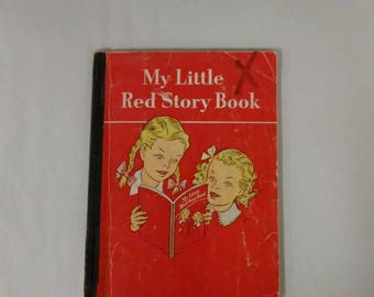 Vintage My Little Red Story Book Ginn Basic Reader Odille Ousley David H Russell 1948 1947