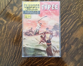 Vintage Typee Herman Melville Classics Illustrated Comics No 36