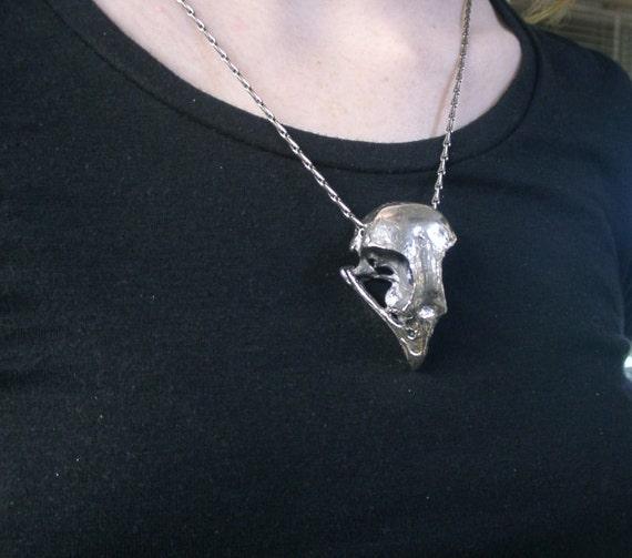 collier argent crane