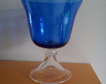 Vintage colbalt blue vase