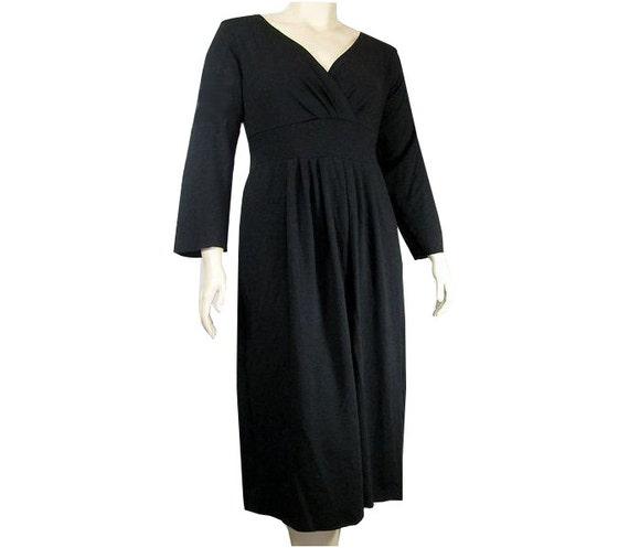 Plus Size Empire Waist Dress-Hand Dyed Organic Cotton/Bamboo   Etsy