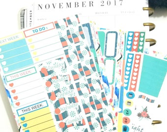 """Happy Planner Classic-Weekly Sticker Kit """"Comfy Cozy Creature Comforts"""""""