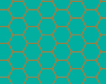 Hex Teal Blush by Art Gallery Fabric