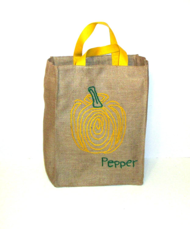 Farmers market bag fabric bag sustainable shopping bag eco-friendly reusable tote handmade OOAK