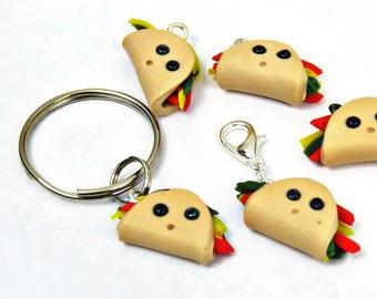 Taco charm/ miniature taco/ handmade beads/ food miniature charm/ unique bead/ kawaii taco/ cute food/ fake food charm/ miniature food charm