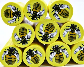 Queen bee unbaked polymer cay cane/ bee polymer clay cane/ Bees/ Bee raw polymer clay canes/ Insect polymer clay/ honey bees clay cane