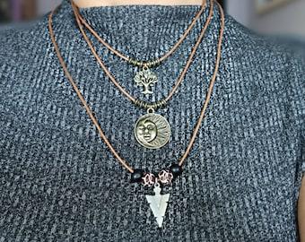 Arrow head Necklace/ Men's necklace/ Arrow necklace/ Arrow pendant necklace/ Stainless steel arrowhead/Arrow Choker necklace