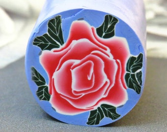 Light pink rose polymer clay / Unbaked polymer clay cane/ Rose flower clay cane/ Red Rose flower/ handmade rose art/ Rose raw polymer clay