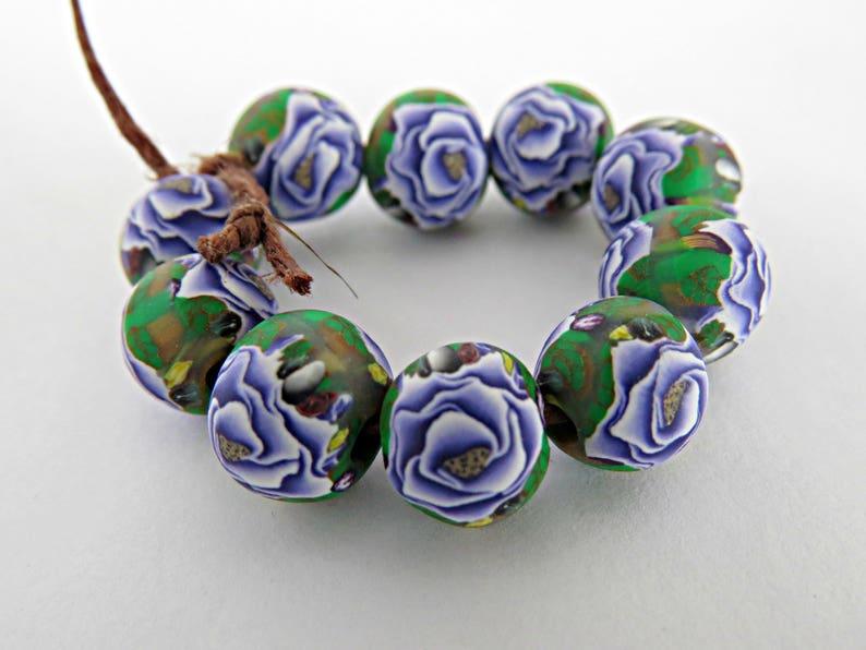 f21f6cf4c4b7 100 50 or 10 pieces Beads  Deep purple rose beads  10mm round