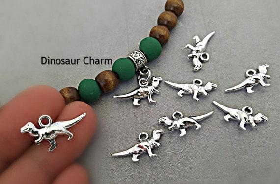 Antique Silver Tibetan Metal DINOSAUR Charms Pendant Beads Craft Cards Wedding