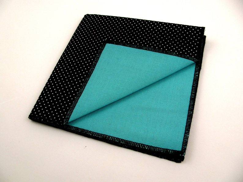 THREE in one pocket square Right  Mr so many colors to choose from Wrong teal green cotton reversible pocket square for cool guys Mr