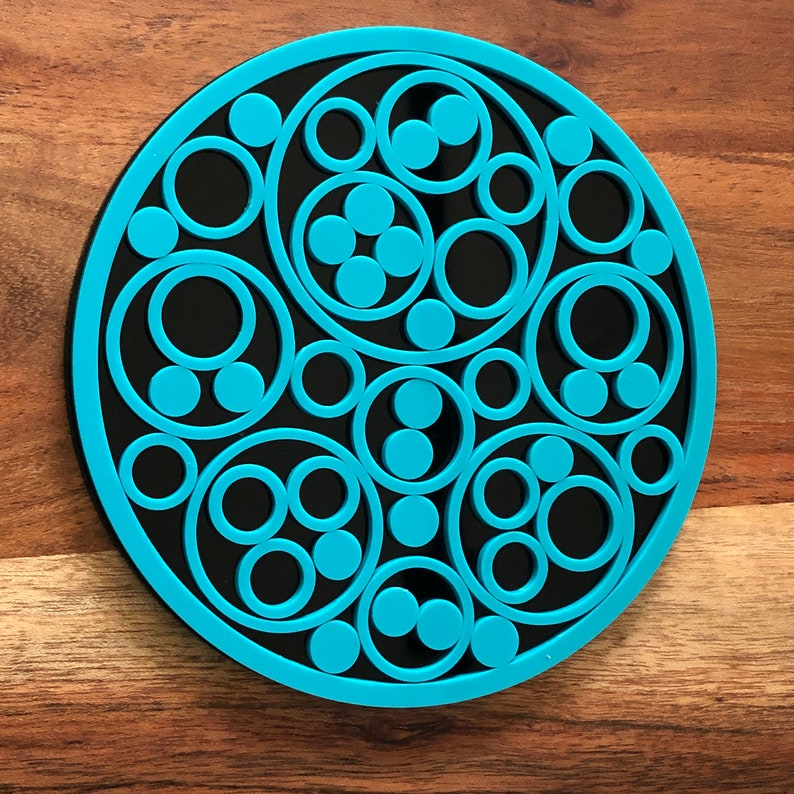 Apollonian Gasket Art SVG file for Laser Cutter  Commercial image 0