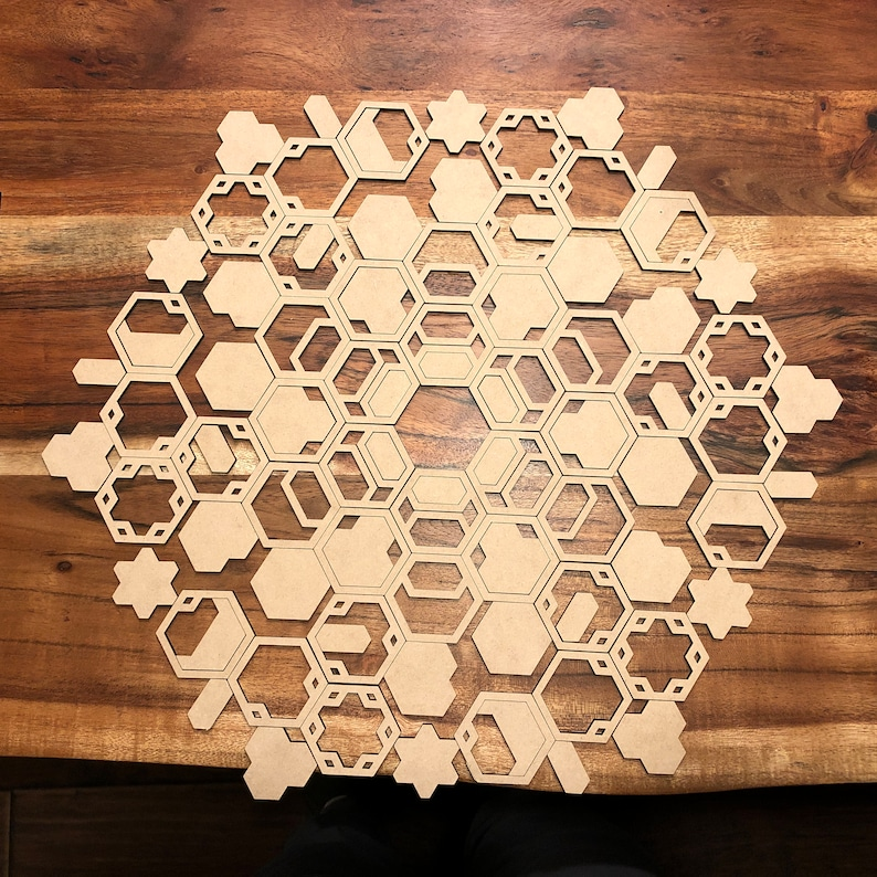 Hexagon Art SVG file for Laser Cutter  Commercial or Personal image 0