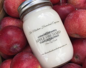 Apple Orchard all natural pure soy candle Mason jar candles hand poured fresh apples apple scented soy candles Montana made candles