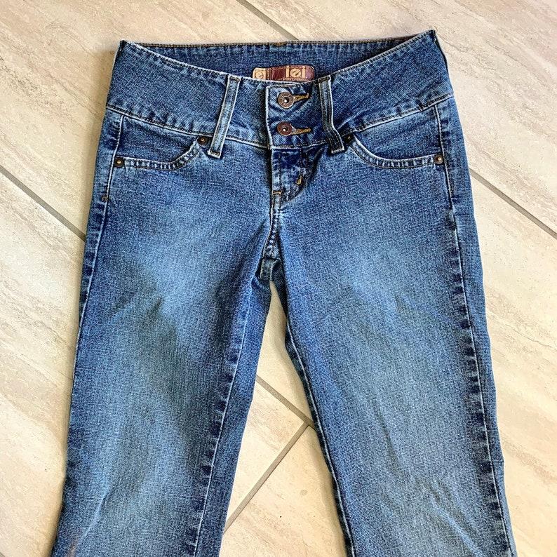 Vintage 1990s LEI Brand Bleached Distressed Grunge Pop Star Kawaii Retro y2k Capri Pants Sz 1 US