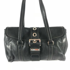 PRADA Vintage Fashionable Authentic Black Leather Satchel Made in Italy.   298.00. Contact us 938ef38f9cb50