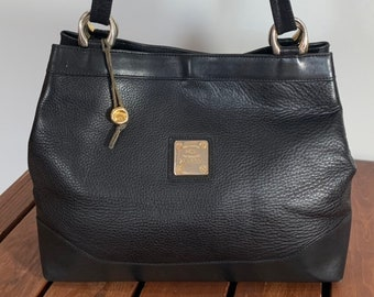 HCL Authentic Black Leather Crossbody Shoulder Satchel Bag Made in Germany