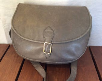 dd2f6568fb8b LONGCHAMP Authentic Paris Gray Leather Shoulder Bag Made in France