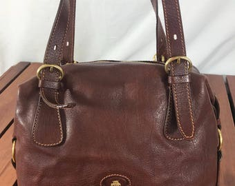 0156bacb0f1b2 THE BRIDGE Vintage Genuine Brown Leather Satchel Bag