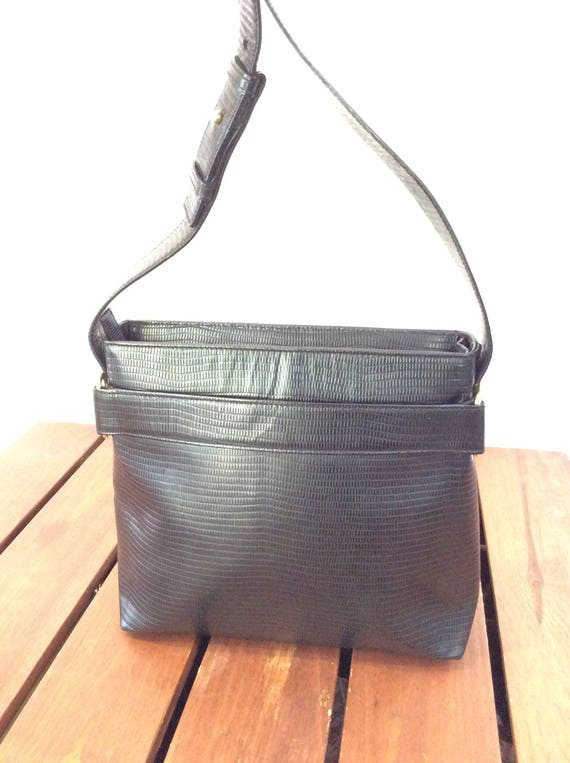 SALVATORE FERRAGAMO Great Vintage Authentic Black Leather  1cc4da3bf0acb