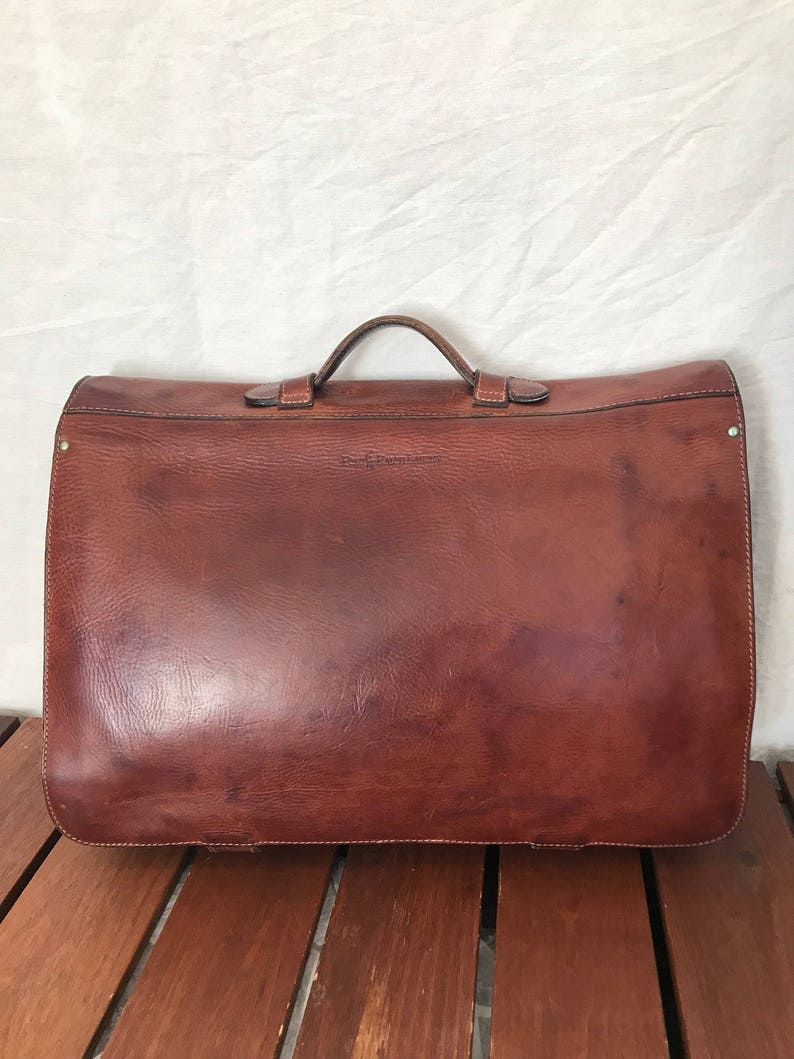15d5260d5a POLO RALPH LAUREN Rare Authentic All Brown Leather Briefcase