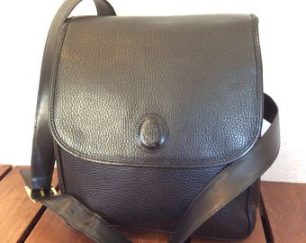 30% OFFSALE MARK CROSS Authentic Black Leather Shoulder Bag Made in Italy