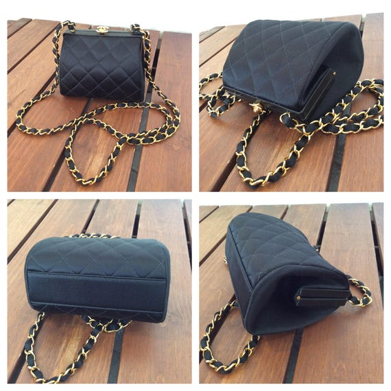 CHANEL Rare Hard to Find Authentic Vintage Classic Quilted   Etsy e4ef295fd2