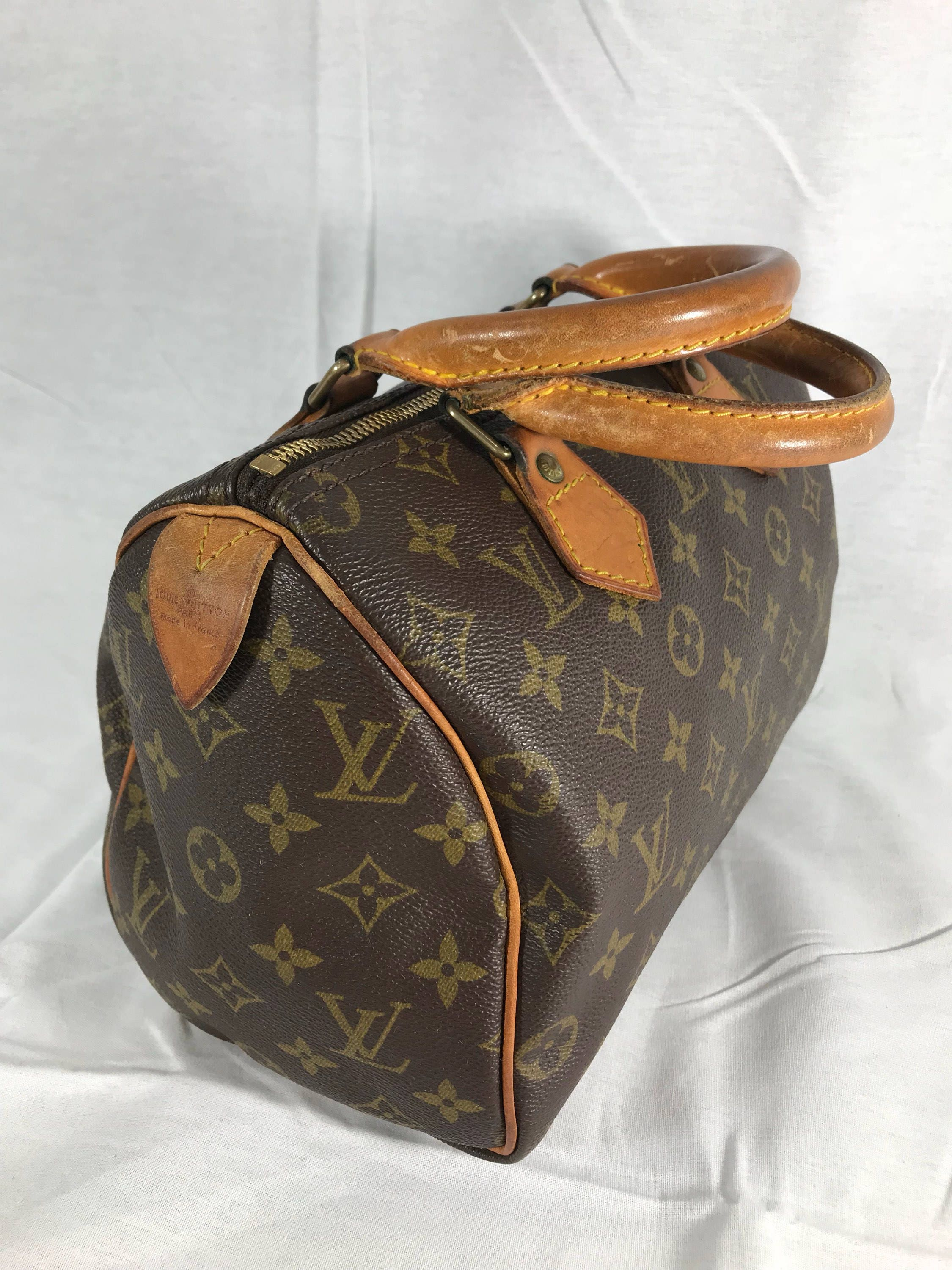 Images For Louis Vuitton Made In France >> Louis Vuitton Great 80s Authentic Vintage Monogram Speedy 25