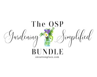 Gardening Simplified Bundle, Garden Guides, Infographics, Printable Wall Art, Printable Garden Journal, Garden Planner, Digital Download