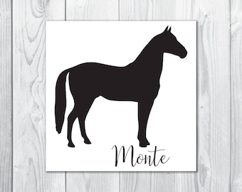 Custom Horse Decal - Your Pet's Name! Any Color
