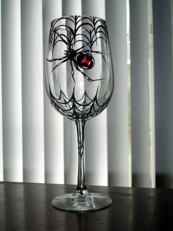 Black Widow Wine Glass