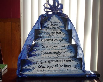 Christmas in Heaven display sign