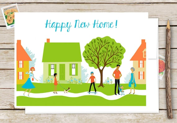 Happy new home greeting card congratulations on your new etsy image 0 m4hsunfo
