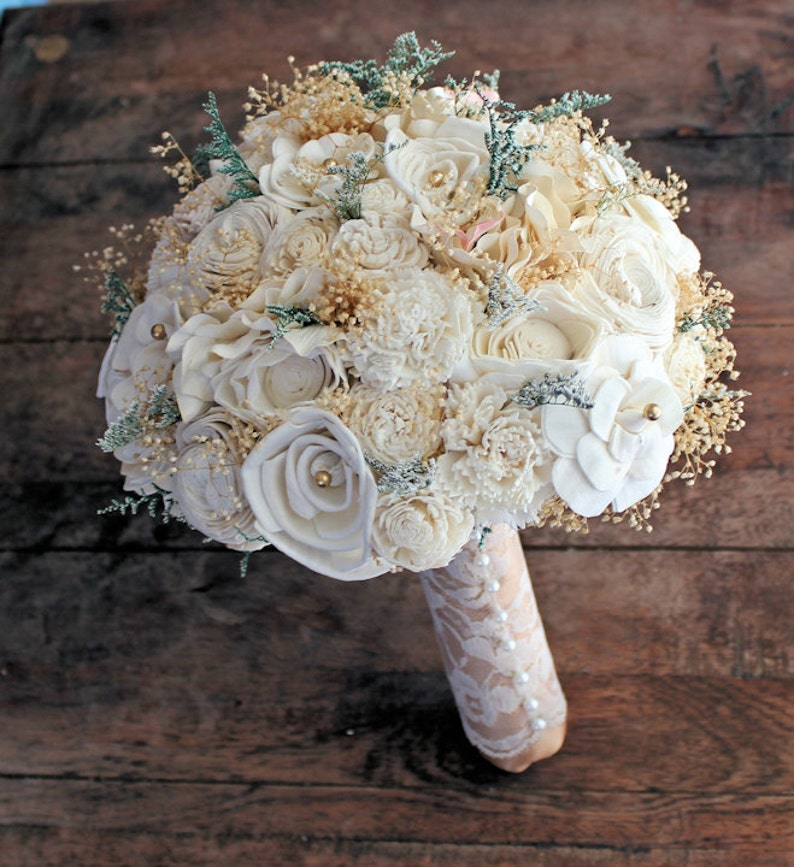 rustic wedding centerpiece ideas rustic wedding chic.htm wedding bouquet vintage collection large ivory lace gold etsy  wedding bouquet vintage collection