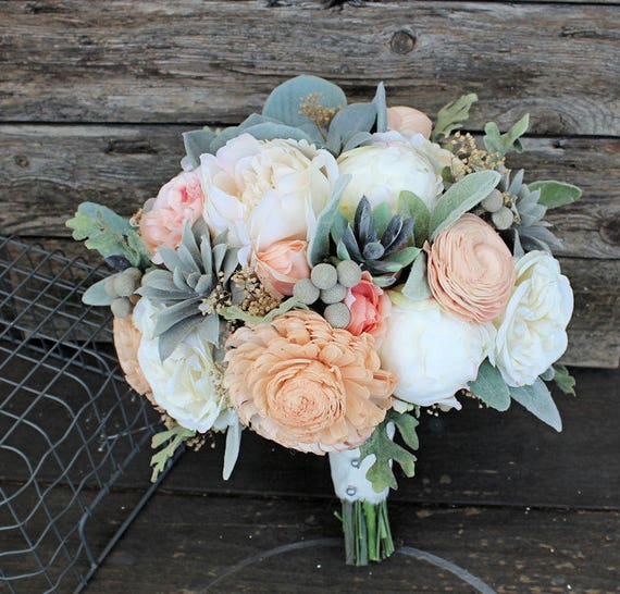 Keepsake bridal bouquet faux succulents silk flowers etsy image 0 mightylinksfo