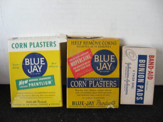 Blue Jay Corn Plasters 2 Boxes And Band Aid Bunion Pads 1