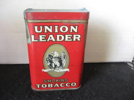 Cool Distressed Primitive West Virginia Tin vintage Union Leader Cut Plug lunch pail tobacco tin Antique Tobacco Tin Pipe Tobacco