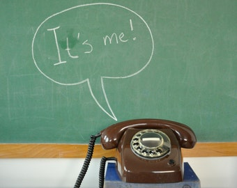 T65 vintage bewerkt telefoon | retro telefoon | vintage telefoon werken | 70s telefoon | cadeau voor hem | Vintage telefoon