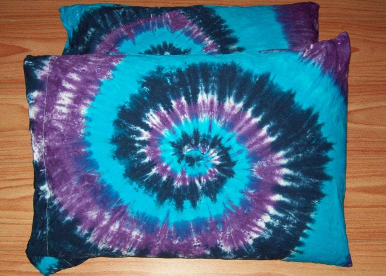 9999ac07f9571 2 Tie Dye Pillow Cases- Set of 2- tie dye pillowcases, tie dye bedding,  River