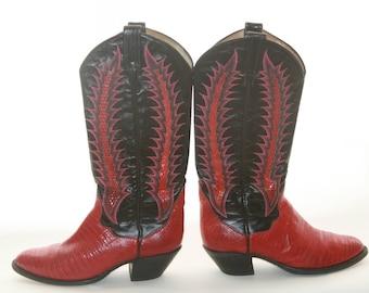 Thieves Market 7-8 Tony Lama Cowgirl Boots Vintage f4b6e3cbde2a0
