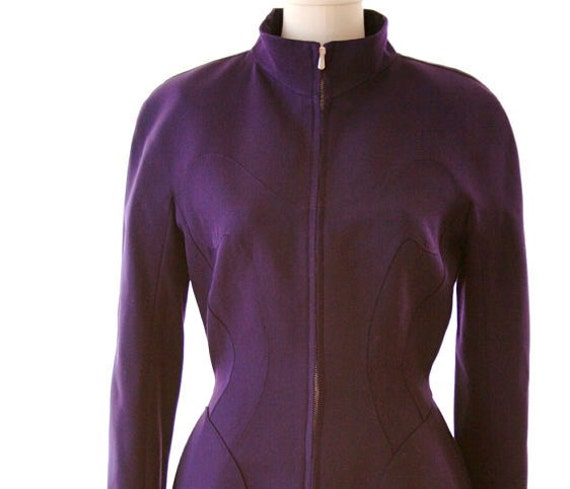 THIERRY MUGLER - Purple Skirt Suit - Size 2 or 4